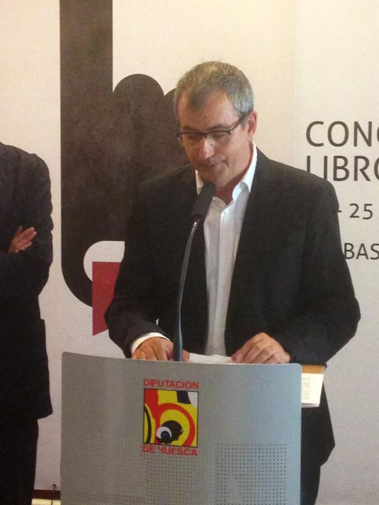 Fernando García Mongay en la presentación I Congreso de Libro Electrónico Barbastro